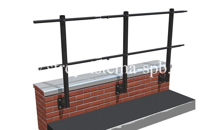 Ограждение на парапет (кирпич / бетон)