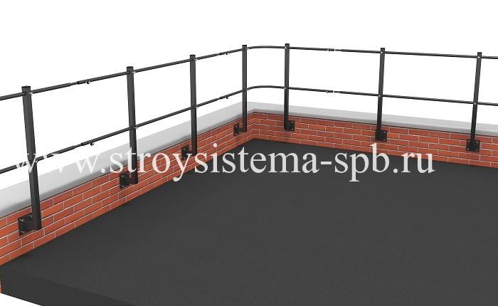 Ограждение на парапет из кирпича или бетона