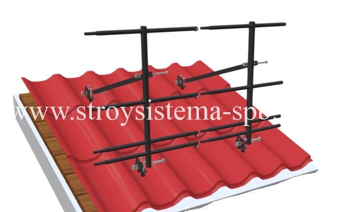 Кровельное ограждение STANDART со снегозадержателем (металлочерепица)