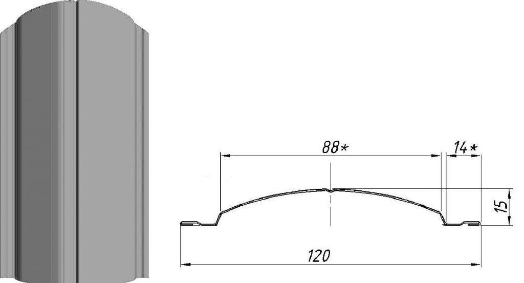 Металлический штакетник CLASSIC