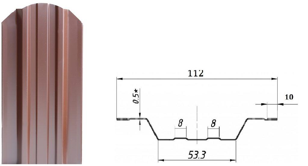 Металлический штакетник STANDART